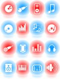 Audio icons Stock Photography