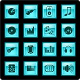 Audio icons Royalty Free Stock Images