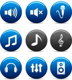 Audio icons. Royalty Free Stock Image