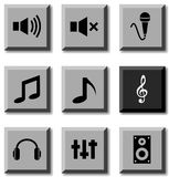 Audio icons. Royalty Free Stock Photo