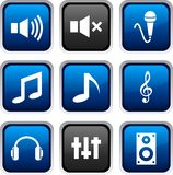 Audio icons. Royalty Free Stock Images