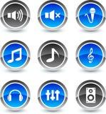 Audio icons. Royalty Free Stock Photo