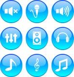Audio Icons. Stock Photos