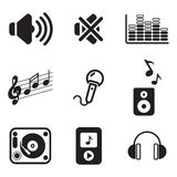 Audio Icons Royalty Free Stock Image