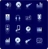 Audio icons Stock Photo