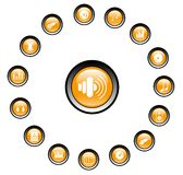 Audio icons. Music and audio raster icons. Vector version is available in my portfolio stock illustration