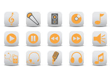 Audio icons Royalty Free Stock Photos