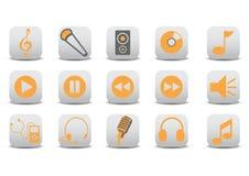 Audio icons stock illustration