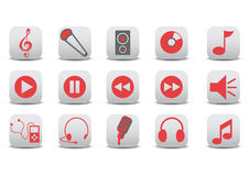 Audio icons royalty free illustration