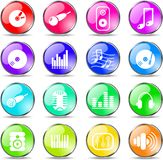 Audio icons Stock Image