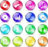 Audio icons Stock Image