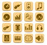 Audio icons Royalty Free Stock Photos