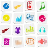 Audio icons Stock Photos