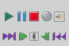 Audio Icons. Some nice nad shining audio icons Royalty Free Stock Photo