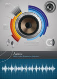 Audio icons and symbols Royalty Free Stock Photography
