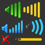 Audio ikona Zdjęcia Royalty Free