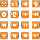 audio ikony Obraz Royalty Free