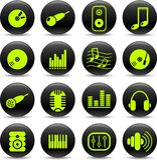 audio ikony Zdjęcie Royalty Free