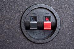 Audio input. De klemmen van de lente. Stock Fotografie