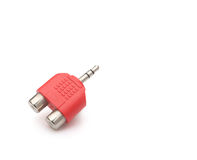 Audio input & output plug. With clipping path Royalty Free Stock Photos