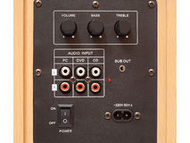 Audio input panel Royalty Free Stock Photos