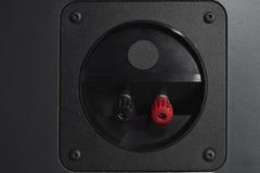 Audio input posteriore per l'altoparlante ad alta fedeltà del monitor Fotografie Stock
