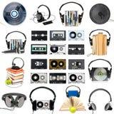 Audio insieme dell'attrezzo Immagini Stock