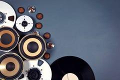 Audio insieme sano della raccolta degli oggetti di media Fotografia Stock