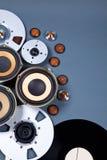 Audio insieme sano della raccolta degli oggetti di media Immagini Stock Libere da Diritti
