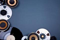 Audio insieme sano della raccolta degli oggetti di media Immagine Stock