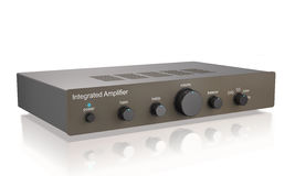 Audio integrated power amplifier 3d illustration. Royalty Free Stock Photography