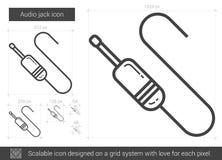 Audio jack line icon. Stock Photo