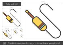 Audio jack line icon. Stock Image