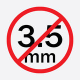 Audio jack 3.5mm in ban sign Royalty Free Stock Image