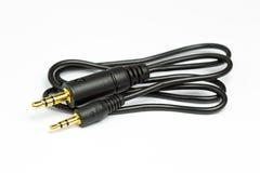 3 audio Jack Plug de 5m m a 2 conector de audio de 5m m Imágenes de archivo libres de regalías