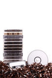 Audio K7 to CD. Photo of Audio K7 to CD royalty free stock photo