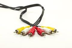 audio kabli odosobniony projekt Fotografia Stock