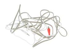 audio kabli odosobniony wideo biel Obrazy Royalty Free