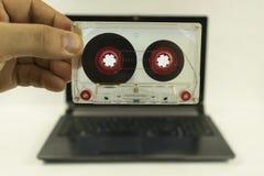 Audio kasety notatnik zdjęcia stock