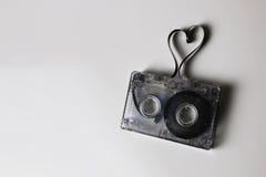 Audio kasety taśmy kształta serce Zdjęcia Royalty Free