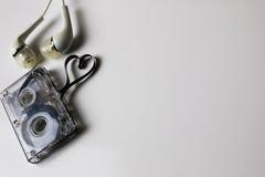 Audio kasety taśmy kształta serce Fotografia Royalty Free