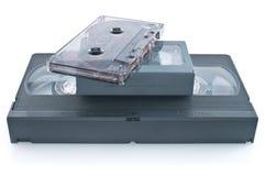 audio kasety układu vhs wideokaseta Obrazy Stock