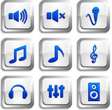 Audio knopen. Stock Afbeelding