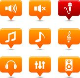 Audio knopen. Royalty-vrije Stock Afbeeldingen