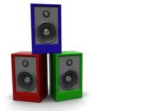 audio kolorowi mówcy Obraz Stock