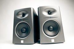 audio kontrollerar studion Arkivfoto