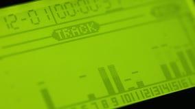 Audio level indicator stock footage