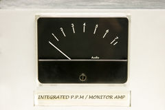 Audio Level Meter royalty free stock photo