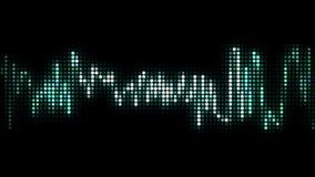 Audio linea stile dell'onda del pixel del nero illustrazione vettoriale