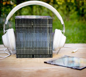 Audio - listenig music Stock Image